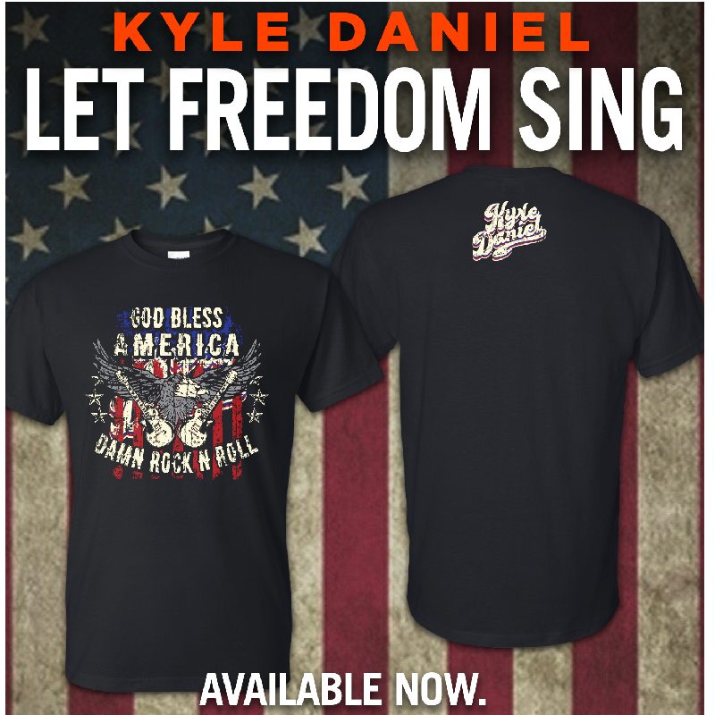 Kyle Daniel God Bless America Black Tee