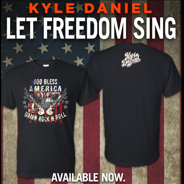 Kyle Daniel God Bless America Black Tee